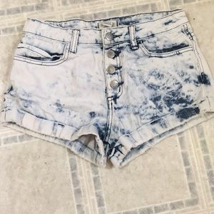 High Wasted Acid Wash Shorts- Forever 21